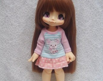 Azone Kikipop Baby Pink Polka Dot One Piece - Lovely Piggy