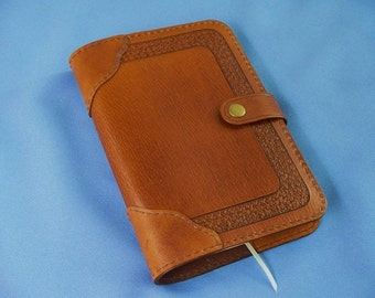 READY TO SHIP -Journal - Carved Leather - Wedding Book - Refillable - Notebook - Guestbook