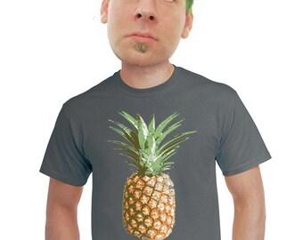 pineapple t-shirt men's hawaiian shirt cool artsy tropical shirt hawaii tiki bar maui oahu waikiki kauai  beachy shirts surfer tees s-4xl