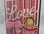 Handmade Card, Greetings, Gift, Valentine, MFT, My Favorite Things - Lots of Love Girl