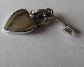 Key to my Heart Sterling Silver Charm - Pendant - Gift