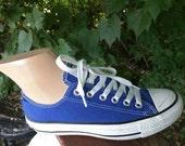 Blue / royal blue Chuck Taylor all star tennis shoes / sneakers men women kids / festival / FREE US Shipping