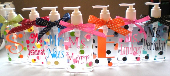 Personalized Hand Sanitizer - ONE  8oz. -Teacher Gift - Easter Gift - Adults - Teens - Gifts - Christmas Gift - Stocking Stuffer