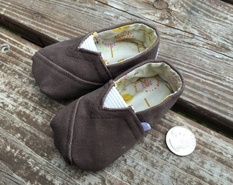 Canvas Baby Shoes, Size 3 Months