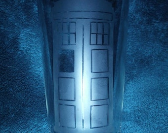 Doctor Who Themed Glass