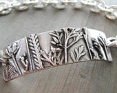 Carefree Bracelet, Fine Silver, Natural Plant Reproduction, Artisan Original and Exclusive by SilverWishes, Recycled Silver