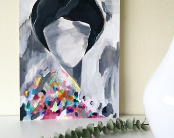 Abstract Painting - Figurative Art - Abstract Face - Abstract Acrylic Painting - Original Abstract Acrylic - Woman Face - Abstract on Paper