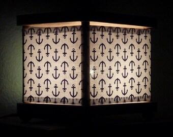 Navy Anchor Night Light Decor Nautical Theme Lighting
