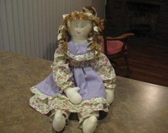 Cloth Doll Ethnic Handmade 21 inches Braided Hair