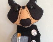 Limited Edition  Artist Andy Handmade Raccoon Felt Doll warhol