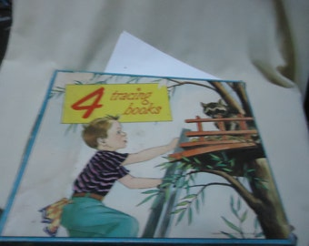 Vintage 1952 4 Tracing Books, collectable