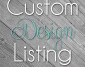 Custom Design LIsting for Angee Maycock