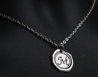Boho Jewelry Gift Monogram Necklace Initial Jewelry Personalized Necklace boyfriend gift Alphabet Pendant Letter Necklace Mens Necklace