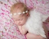 Princess Feather Wing Set - Newborn Feather  Wings - White feather Butterfly Wings - white Newborn Wing Set - Angel wing set - photo prop