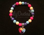 Autism Awareness Charm Bracelet (Ready to Ship)