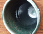 Black and Green Tumbler, Fancy cup, handmade