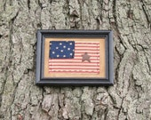 American Flag Framed  Folk Art Primitive Americana flag
