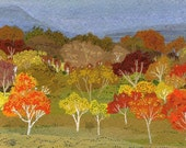 Fall Trees Panoramic Print