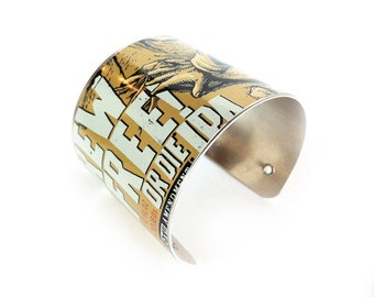 brew free, cali, california, san fran beer, brewcuff, cuff bracelet, upcycled jewelry, brewbracelets, aluminum can jewelry