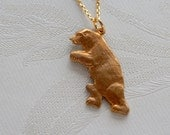 Bear Necklace, Standing Bear, Wild Animal, Gift for Her