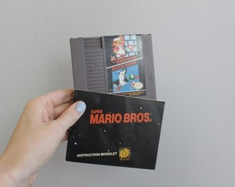 Vintage 80s Super Mario Bros and Duck hunt NES Vintage Video Game