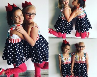 Custom Boutique Dr Suess Inspired Dress  • Thing 1 and Thing 2