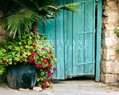 Reserved for Kathi - Turquoise door in Ein Karem