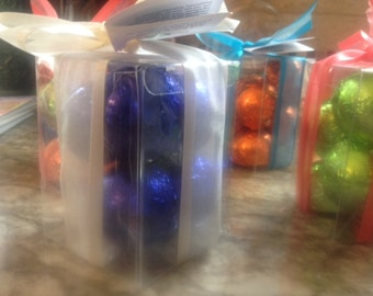 Gift Box SET 8 Bath Bombs 1.6 oz each - foil wrapped - Ultra Moisturizing with Shea & Cocoa Butter- perfect for dry skin