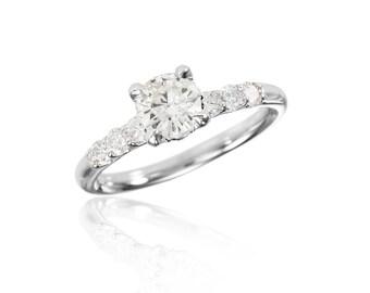Acropolis Ring - Platinum Diamond Engagement Ring
