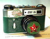 Green USSR FED-5 camera rare Russian Leica in box  -=Peace. Work. May=-