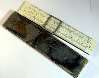 1962 Аntique USSR Celluloid Slide Rule in Case