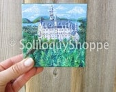 German Castle Painting - Fairytale Disney Acrylic Canvas like Neuschwanstein in Bavaria