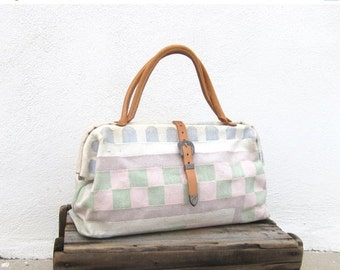 Carpet Bag Pastel Southwestern Native Doctors Tote  Bag