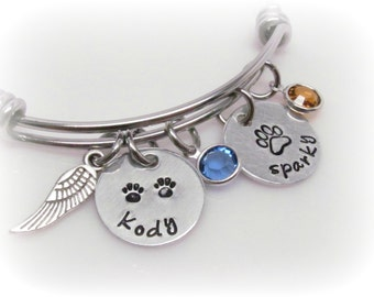 Dog Memorial Jewelry Custom Pet Memorial Cat Memorial Pet Remembrance Pet Loss Dog Remembrance Cat Remembrance Memorial Bracelet Bangle