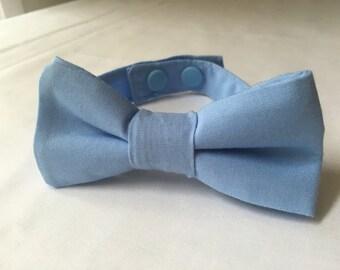 Blue boys bow tie