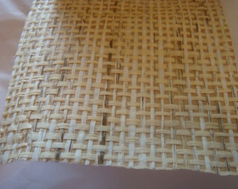 Vintage 80s Tan Grass Cloth Wallpaper Scrap Dollhouse Scrapbooking