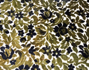 vintage flocked upholstery fabric 2 yards