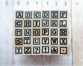 Mini Alphabet Rubber Stamps Rubber Stamping Scrapbooking Card Making
