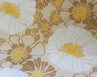 Vintage Mod Floral Wallpaper Two Rolls