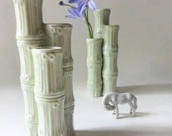 Vintage Bamboo Bud Vases Portugal