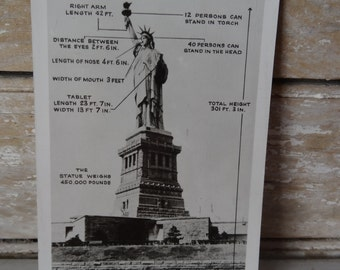 Vintage Post Card Statue of Liberty