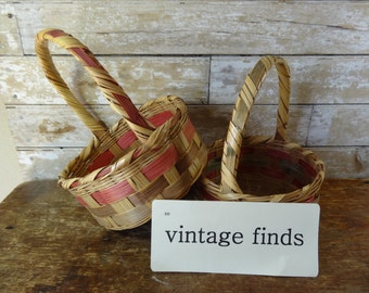 Vintage Easter Woven Baskets Sweet 1 of 2