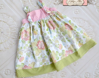 Easter Knot Dress, Easter Dress, Toddler Easter Dress, Girls Easter Dress, Spring Knot Dress, Easter Outfit
