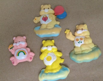 Set of 4 Vintage Care Bear Magnets