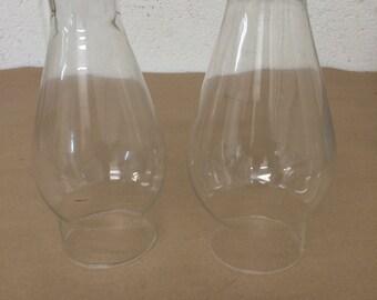 Vintage Pair of Oil Lamp Globes