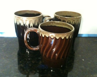 Vintage Set of 3 Coffee Cups