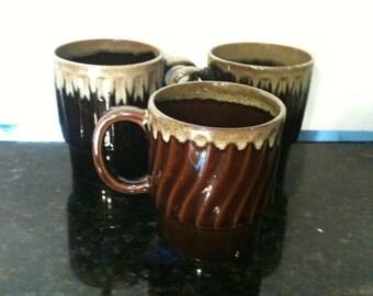 Vintage Set of 3 Coffee Cups
