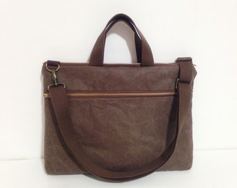 Macbook or Laptop bag with handles and detachable shoulder strap -Ready to ship