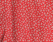 American Jane Building Blocks Letters red moda fabric FQ or more