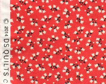 Sweet Ruby tossed floral red DS Quilts Denyse Schmidt fabric  FQ or more